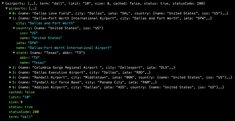 Airport Codes API Data Feed
