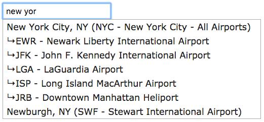 Airport codes api autocomplete - installation